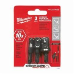 Milwaukee® SHOCKWAVE™ 3-Piece Impact Duty Magnetic Socket Adapter Set, Imperial, 1/2 in Hex Shank, 5 in OAL